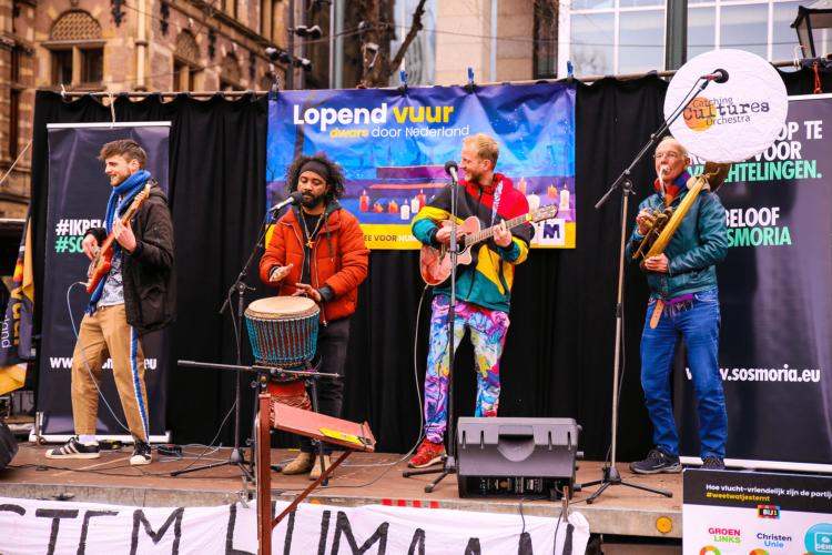 music band, plein den haag